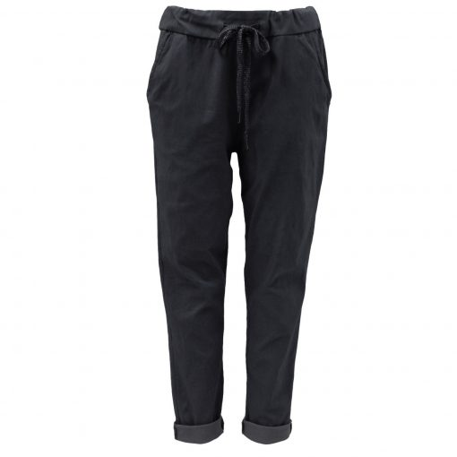 Black, plain, stretchy, magic trousers, joggers