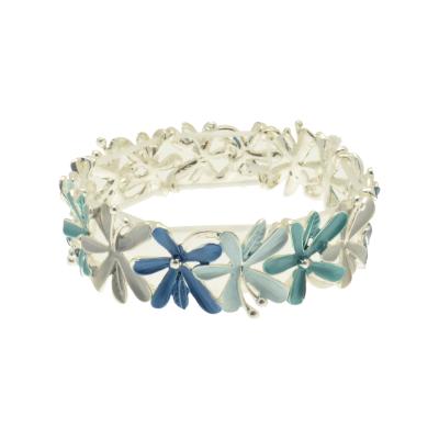 blue, flowers, miss milly, bangle, bracelet, fb316