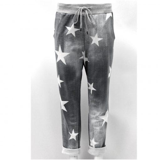 Dark grey , star, stretchy, magic trousers, joggers