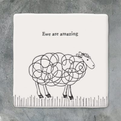 East of India, ceramic, porcelain, ewe, sheep, you're amazing
