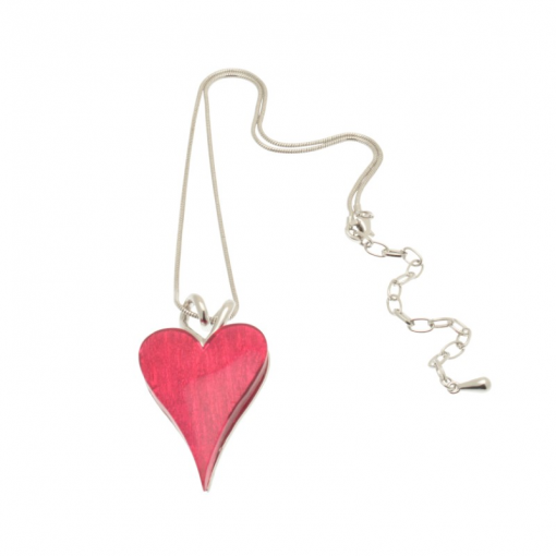 pink, fuchsia, heart, short necklace, necklace, miss milly, fn211