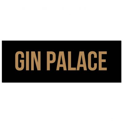 gin, palace, wall sign, wall plaque