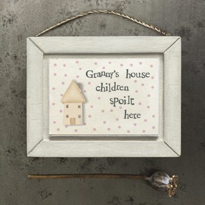 east of india, little wooden picture, granny, gran, granny's house, children spoilt here