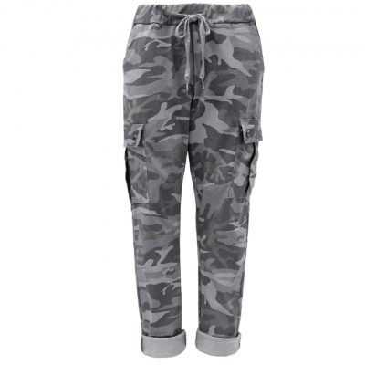 Grey, camo, cargo, stretchy, magic trousers, joggers