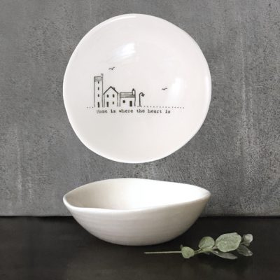 east of india, trinket dish, home is where the heart is