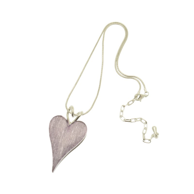 Lilac, heart, short necklace, necklace, miss milly, fn211
