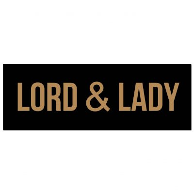 lord & Lady, wall sign, wall plaque