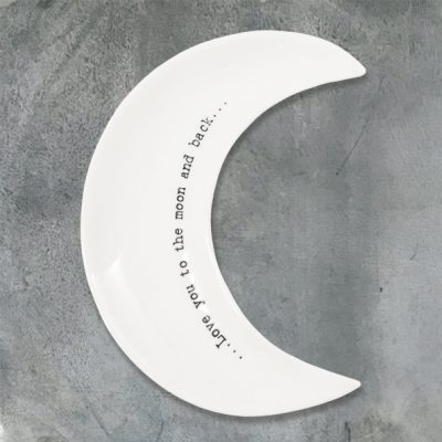 east of india, trinket dish, love you to the moon and back