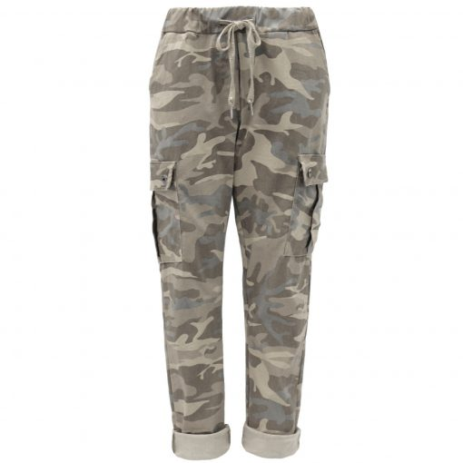 mocha, camo, cargo, stretchy, magic trousers, joggers