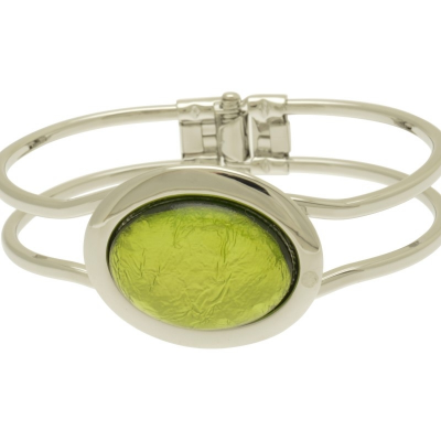 oval, resin, green, miss milly, bangle, fb66