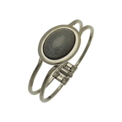 oval, resin, grey, miss milly, bangle, fb66