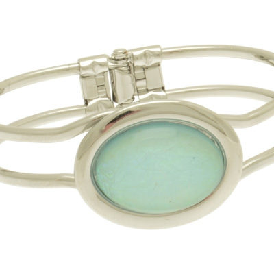 oval, resin, mint, miss milly, bangle, fb66