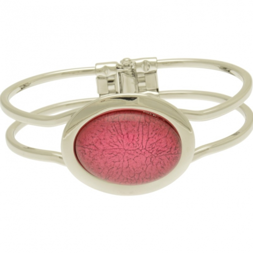 oval, resin, pink, miss milly, bangle, fb66