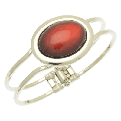 oval, resin, red, miss milly, bangle, fb66