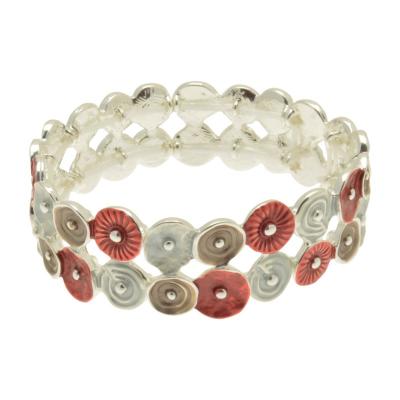 swirl, cirlcles, red, grey, mocha, miss milly, bangle, fb491br