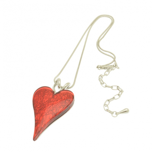 Red, heart, short necklace, necklace, miss milly, fn211