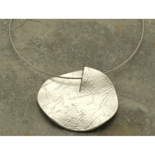 silver, disc, short necklace, necklace, miss milly, fn256