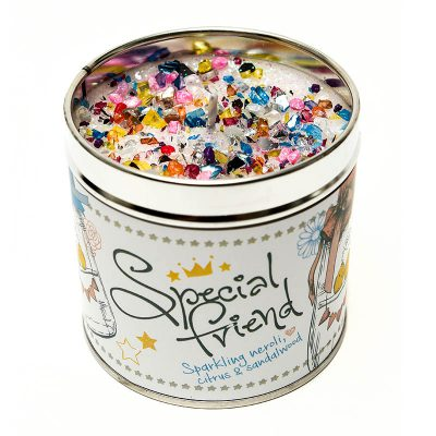 special friend, special friend candle, tinned candle, Sparkling, neroli, citrus, sandalwood, scented candle