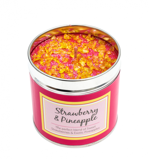 Strawberry & Pineapple Punch candle, tinned candle, scented candle