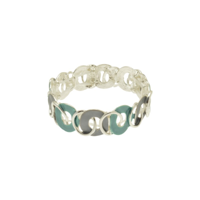 swirl, cirlcles, red, grey, teal, miss milly, bangle, fb313tl