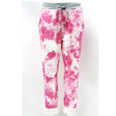 fuchsia, stretchy, magic trousers, joggers