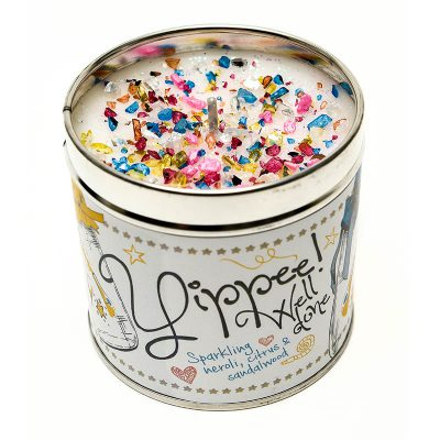 well done candle, tinned candle, Sparkling, neroli, citrus, sandalwood, scented candle