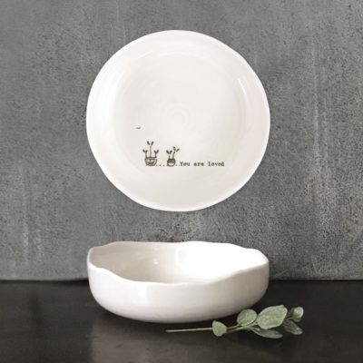 east of india, trinket dish, you are loved
