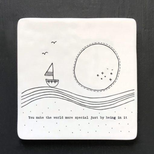 East of India, ceramic, porcelain, coaster, you make the world special