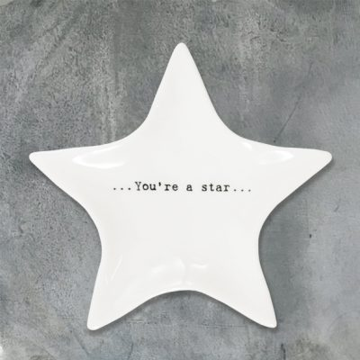 east of india, trinket dish, star, you're a star