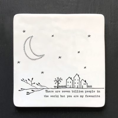 East of India, ceramic, porcelain, coaster, you're my favourite