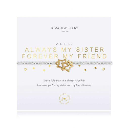 sister, friend, bracelet, always my sister, forever my friend, joma