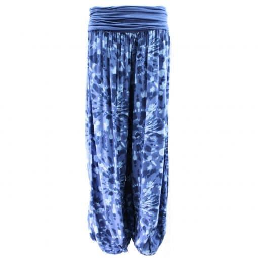 blue, harem, trousers