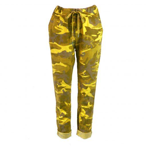 yellow camo magic trousers