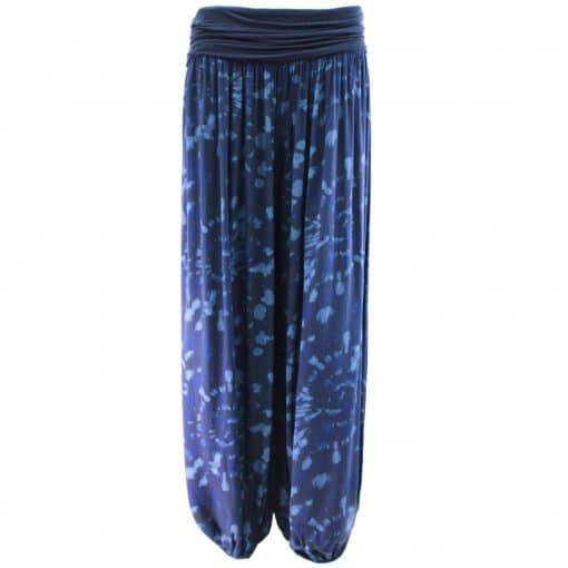 navy blue, harem, trousers