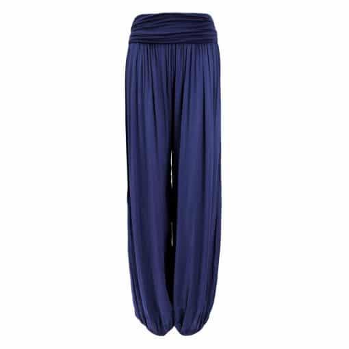 navy, harem, trousers