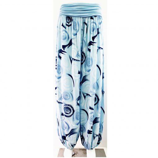 Blue harem trousers