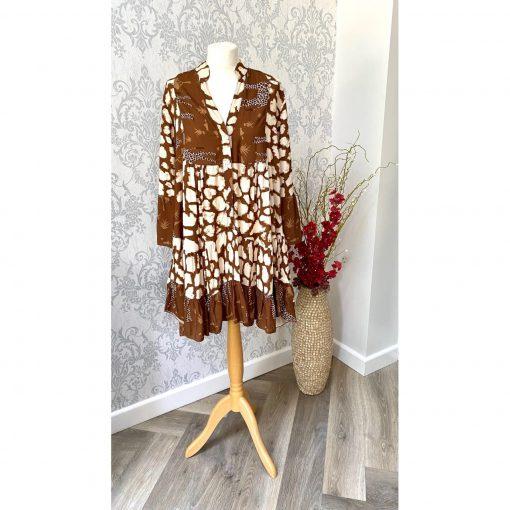 Brown , giraffe, dress