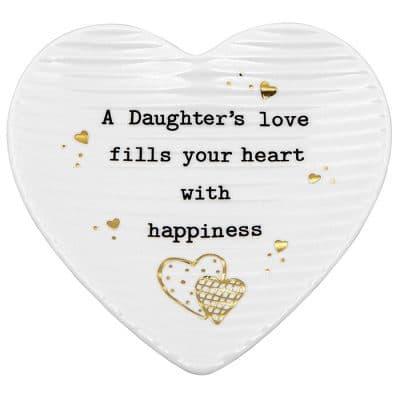 Daughter, heart, trinket tray