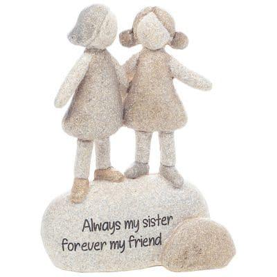 sister, gift, always my sister, pebble art