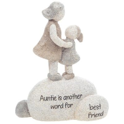 Auntie, best friend, gift, pebble art