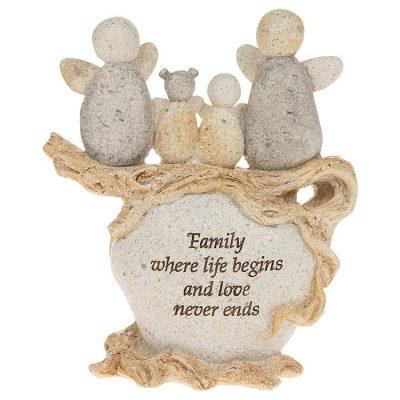Family gift, pebble art