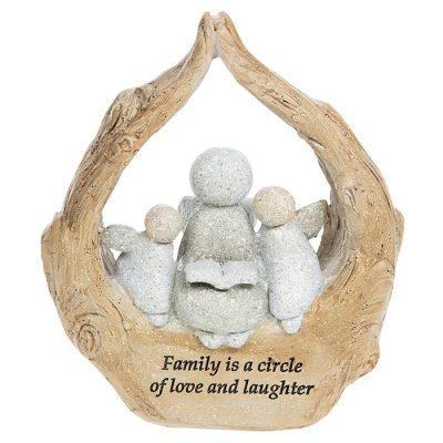 family, gift, family, pebble art