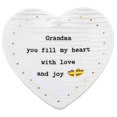grandma, trinket tray, heart