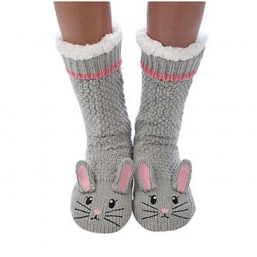 grey, mouse, snoozie, slipper, socks