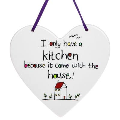 kitchen, came with the house, hanging heart