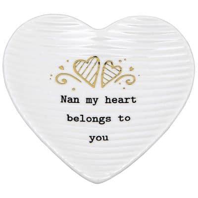 nan, trinket tray, heart