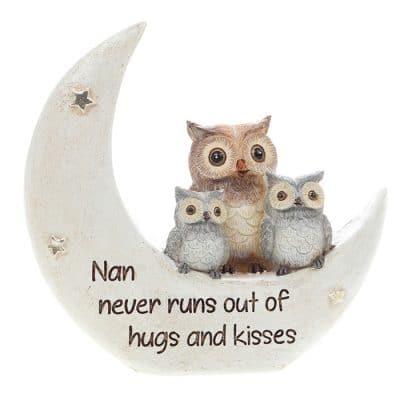 nan, ornament, moon, owl