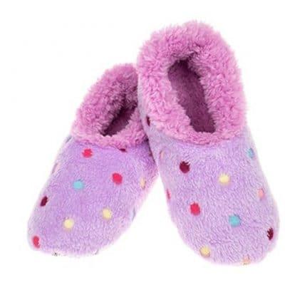 purple, snoozie, slipper, socks