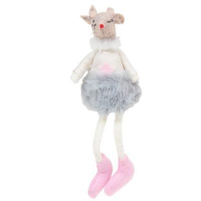 Sugar Plum Mice Dangly Legs - Grey tutu (311652)