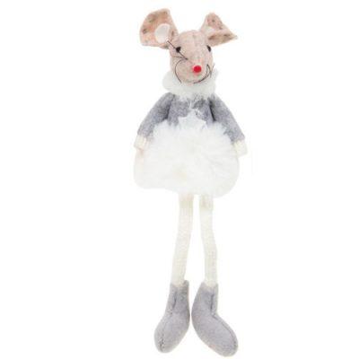 Sugar Plum Mice Dangly Legs - White tutu (311652)